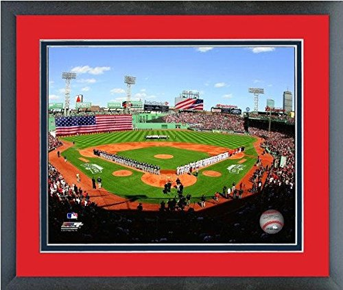 Boston Red Sox Fenway Park MLB Stadium Photo Framed (Size: 26.5