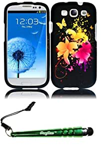FoxyCase(TM) FREE stylus AND For Samsung S3 i9300 Rubberized Design Cover Case - Heavenly Flowers cas couverture