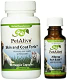 PetAlive Allergy Itch Ease and Skin & Coat Tonic ComboPack (one of each), 7.0 ounces Unit