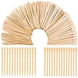 Facial Styles For Round Faces - Aneco 800 Pieces Wood Wax Applicator Sticks Wax Spatulas Small Wood Spatulas Applicator for Hair Eyebrow Removal, 2 Style