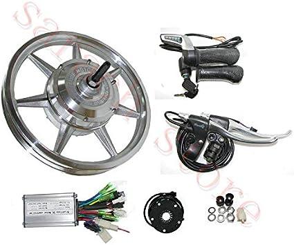 GZFTM Motor de Cubo de Rueda eléctrico Kit de Bicicleta eléctrica ...
