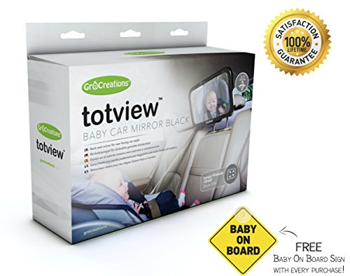 Baby Car Mirrors Totview - Mirror Of Infant | | Includes Baby-On-Board Sign