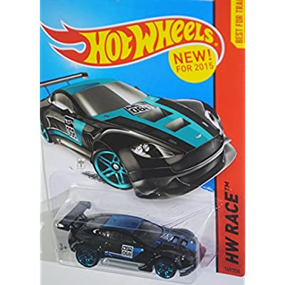 Hot Wheels 2015 HW Race, Aston Martin Vantage GT3 149/250, Black: Toys & Games