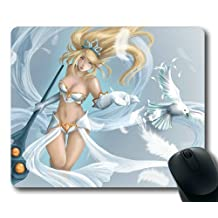 Customizablestyle League of Legends Janna Mousepad, Customized Rectangle DIY Mouse Pad