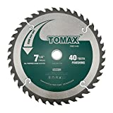TOMAX 7-1/4-Inch 40 Tooth ATB Finishing Saw Blade with 5/8-Inch...