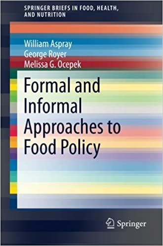 Livres de littérature française à télécharger gratuitement Formal and Informal Approaches to Food Policy (SpringerBriefs in Food, Health, and Nutrition) by William Aspray (2014-04-30) B01JXUMB6I MOBI