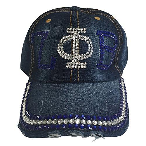 (Zeta Phi Beta Denim Rhinestone Baseball Cap)