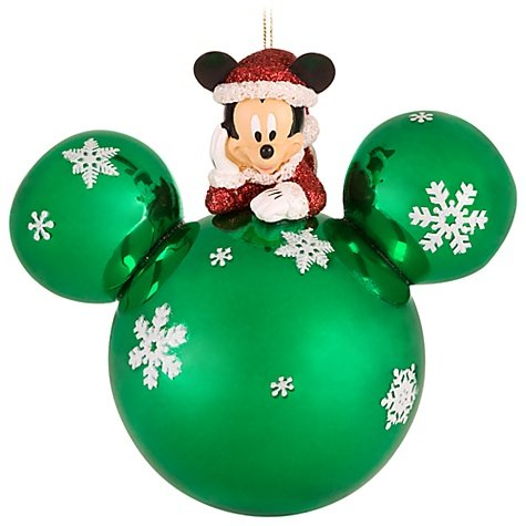 Disney Mickey Mouse Ear Green - Christmas Mouse Disney Mickey Ornaments
