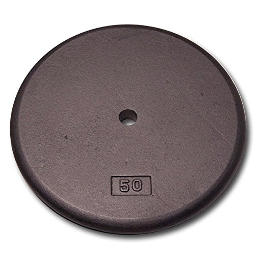 Body Solid Standard Black Iron Weight Plates (50 lb. Standard Plate)