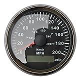 3-3/8'' GPS MPH KM/H Speedometer Gauge Black Background Chrome Bezel For ATV UTV Golf Go Car