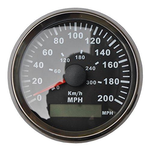 3-3/8'' GPS MPH KM/H Speedometer Gauge Black Background Chrome Bezel For ATV UTV Golf Go Car by Sican