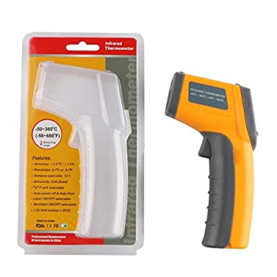 LayDUS Infrared Thermometer Non-Contact Digital Laser IR Temperature Gun -58? To 680?/-50? To 360?