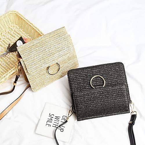 De Pour Beige Dames Off Voyage Shopping En Utilisation Sac black Cabas Bandoulière Quotidienne Ynnb Mode Plage Tissé Paille Et UAPxUzqR