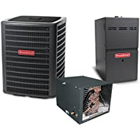 4 Ton 14.5 SEER 80k BTU 80% AFUE 2 Stage Variable Speed Goodman Central Air Conditioner & Gas Split System - Horizontal