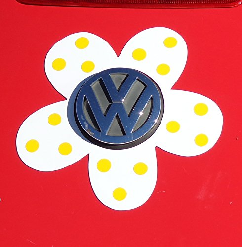 Bling My Bug Magnetic VW Beetle Decal Yellow Polka Dot Daisy