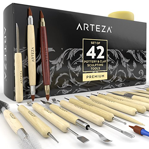 (Arteza Pottery & Clay Sculpting Tools (Set of 42) )