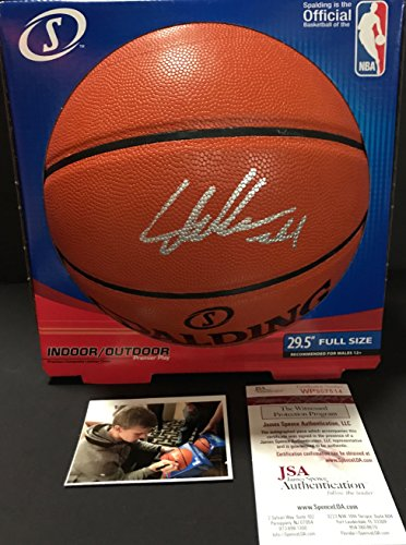 591521ef817 Lauri Markkanen Chicago Bulls Autographed Signed NBA Basketball W  Proof  Picture JSA WITNESS COA