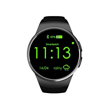 KOBWA Montres Connectées KW18 All-in-1 Bluetooth Smart Watch Phones,Smartwatches Sim