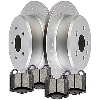 Amazon Com Scitoo Brake Pads And Rotors Kit 4pcs Slotted