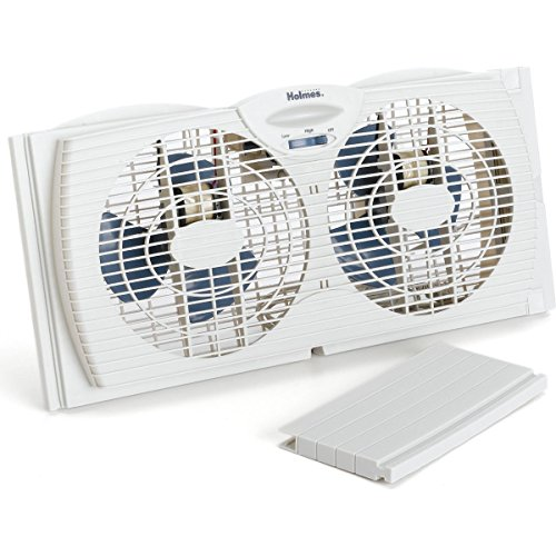 Twin Window Fan 7-inch Dual Blade Cooling Air Circulation Reversible Sealed Box Wmum Bedroom Living Room Home