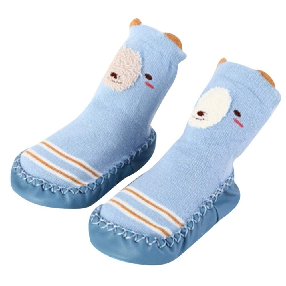 Mitlfuny Ni/ños Ni/ñas Invierno Calentar Tejer Calcetines de Piso para Reci/én Nacido Beb/é Grueso Antideslizantes Lindo Dibujo Animado Beb/é Medias de Algod/ón Zapatos de Primeros Pasos 0-2 A/ños