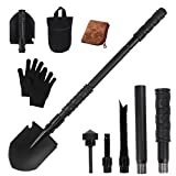 Trekoo Survival Folding Shovel Multi Purpose Tool for Camping, Hiking, Backpacking, Fishing, Trench Entrenching Tool, Car Emergency