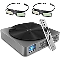 XGIMI Z4 Aurora DLP 3D Projector Screenless TV Entertainment Center LED Home Theater with Harman/Kardon Customized Stereo, Gesture Control+2PCS 3D Glasses-Lightwish