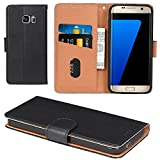 Galaxy S7 Case, Aicoco Flip Cover Leather, Phone Wallet Case for Samsung Galaxy S7 (5.1 inch) - Black