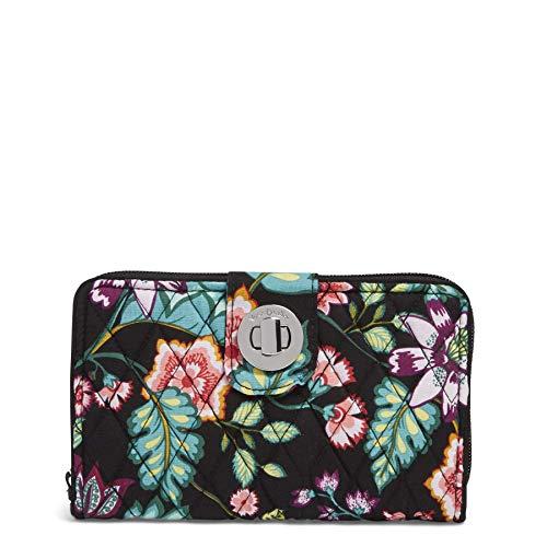 Vera Bradley RFID Turnlock Wallet,  Signature Cotton, One Size ()