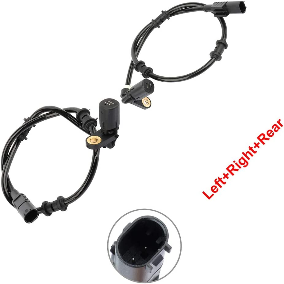 ALS369 ALS373 ABS Wheel Speed Sensor Left+Right+Rear Replacement For 1999-2001 for Mercedes-Benz ML430 1998-2003 for Mercedes-Benz ML320 pack of 2 FreieFahrt