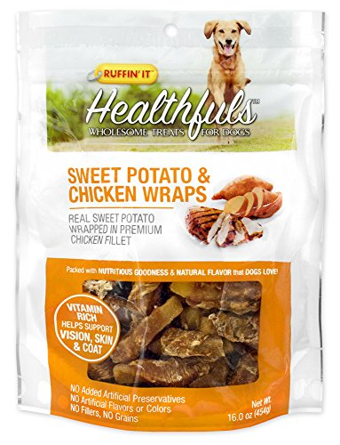Wrap Dog Chew Treat (Healthfuls Sweet Potato and Chicken Wraps, 16-Ounce)