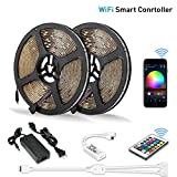 Litake LED Strip Lights, WiFi Wireless Smart Phone APP Controlled Light Strip Kit 32.8ft 300 LEDs 5050 Non-Waterproof LED Lights, Working with Android/iOS System, Alexa