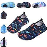 SONLLEIVOO Toddler Swim Water Shoes for Kids Boys Girls Slip on Non-Slip for Beach Surf River(Fish,30)