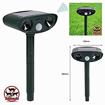 outad Solar Animal Repeller Ahuyentador de Gatos por ultrasonido para ahuyentar animales hundever conductor: Amazon.es: Jardín