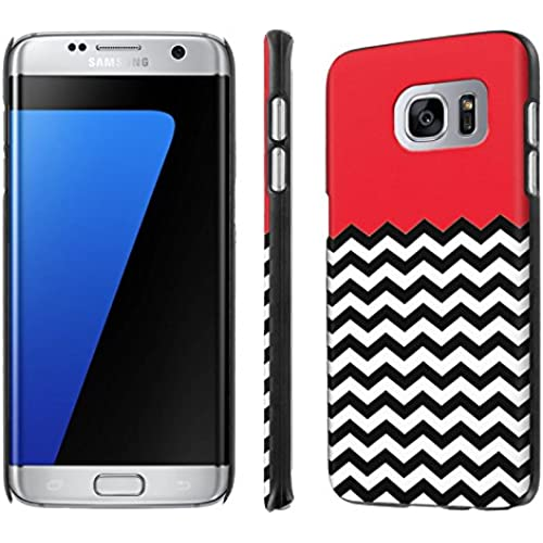 Galaxy [S7 Edge] [5.5 Screen] Phone Case [NakedShield] [Black] Ultra-Slim Jacket Cover Case - [Red Chevron] for Samsung Galaxy [S7 Edge] [GS7 Edge] Sales