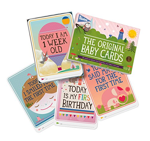 Milestone - Baby Photo Cards Original - Set of 30 Photo Cards To Capture Your Baby's First Year in Weeks, Months, and Memorable Moments by Milestone
