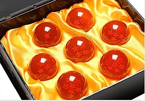 (VICTHY Set of 7pcs Crystal Glass Dragonball Z Star With Box)