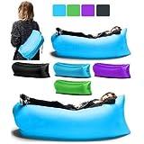 Kakde's & Co. Outdoor Portable Lazy Sofa Fast Inflatable Folding Air Sleeping Bag Beach Lounge
