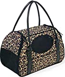 Gen7Pets Carry-Me Deluxe Cheetah Pet Carrier for Cats and Small Dogs, Medium For Sale