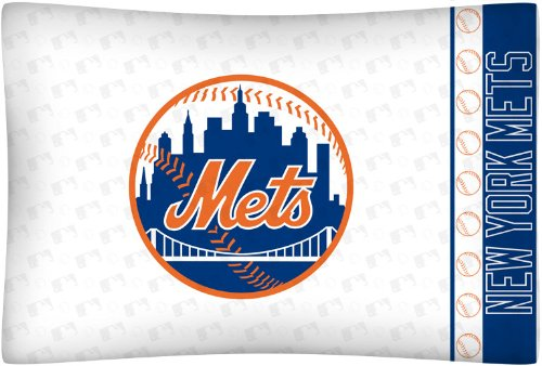 MLB New York Mets Micro Fiber Pillow Case Logo - New York Mets Pillow