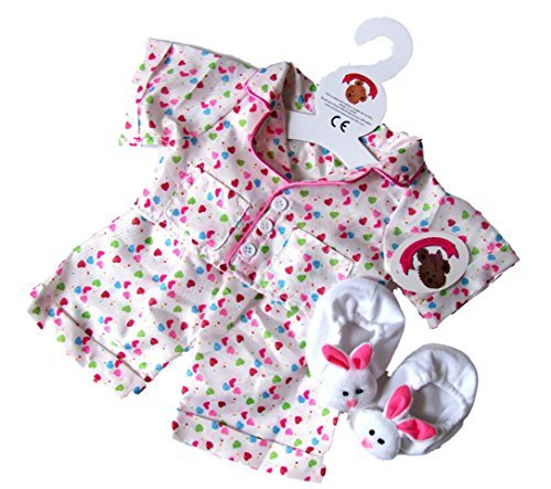 Teddy Bear Clothes Smartie PJ's with Slippers fit Build a Bear Factory Teddies by Build your Bears Wardrobe