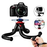 iPhone Camera Tripod, Fotopro Flexible Mini Travel Tripod Stand with Bluetooth Remote Control for GoPro Canon Nikon,Sony DSLR, CellphoneTripod Stand Holder for landscape mode on iPhone Samsung