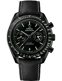 Omega Speedmaster Moonwatch Pitch Black Ceramic on Leather Strap Ref 311.92.44.51.01.004