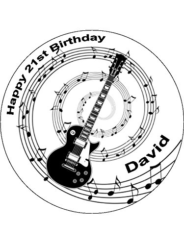Novelty-Personalised-Black-Guitar-Music-Notes-75-Edible-Icing-Cake-Topper-Please-leave-personalisation-as-Gift-Message-5-10-BUSINESS-DAYS-DELIVERY-FROM-UK