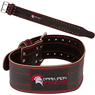 Genuine Leather Pro Weight lifting Belt for Men and Women | Durable Comfortable & Adjustable with Buckle | Stabilizing Lower Back Support for Powerlifting Crossfit & More