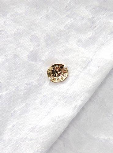 oodji Collection Mujer Camiseta de Tejido Devoré Blanco (1000A)