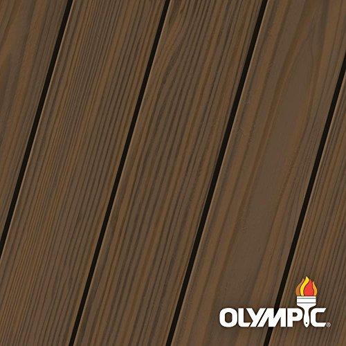 Olympic Maximum 5 gal. Olive Brown Semi-Transparent Exterior Stain and Sealant in One -  OLY936-05