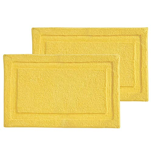 mDesign Soft Microfiber Polyester Non-Slip Rectangular Spa Mat, Plush Water Absorbent Accent Rug for Bathroom Vanity, Bathtub/Shower - Machine Washable, 34