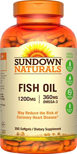 Sundown Naturals Fish Oil 1200 mg, 300 Softgels