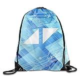 BYDHX Avicii Triangles Logo Drawstring Backpack Bag White